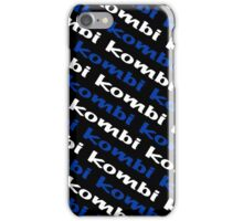 Black Blue & White VW Kombi  iPhone Case/Skin