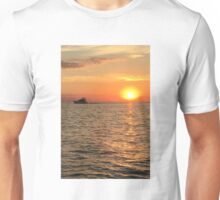 Sunset on Lake Michigan Unisex T-Shirt