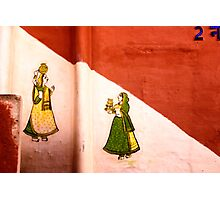 Wall murals House #2, Udaipur - Rajasthan Photographic Print