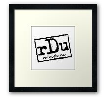 RDU (Raleigh) - NWO T-Shirt Framed Print