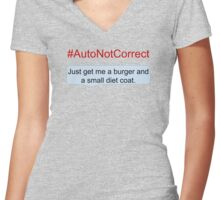 #AutoNotCorrect: Diet Coat Women's Fitted V-Neck T-Shirt