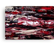 Absract in Red, Black & White Canvas Print