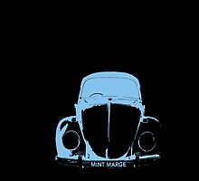 VW Beetle -  Light Blue - MINT MARGE personalised by melodyart