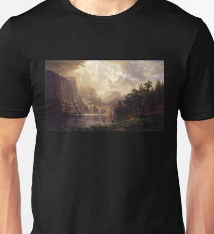 Among the Sierra Nevada - Albert Bierstadt Unisex T-Shirt