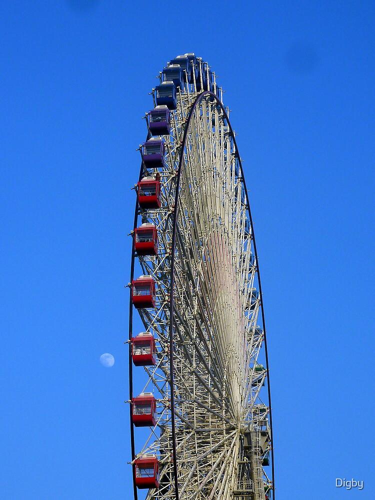 Mei Li Hua Ferris Wheel and Moon by Digby