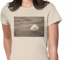 Never Too Late inspirational quote beach shell Womens Fitted T-Shirt