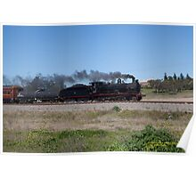 "Steam Loco 3237 ""Singleton Flyer"", Singleton NSW Australia Poster"