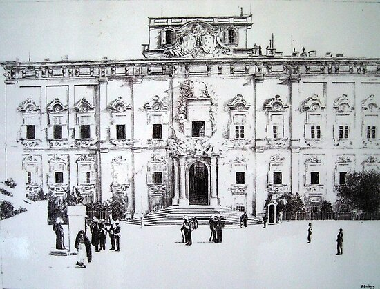 Auberge de Castille-Valletta by Joseph Barbara