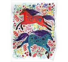 A Horse of Red and Blue Poster