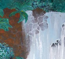 Waterfall 3 - card by Margo Humphries