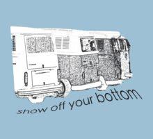 VW Kombi-bottoms - show off your bottom One Piece - Short Sleeve
