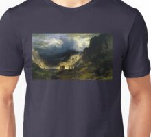 A Storm in the Rocky Mountains - Albert Bierstadt Unisex T-Shirt