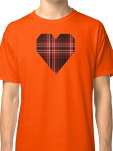 00239 Tweedside Red District Tartan  Classic T-Shirt