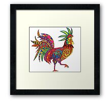 Bright Beautiful Rooster! Framed Print
