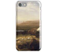 The Last of the Buffalo - Albert Bierstadt iPhone Case/Skin