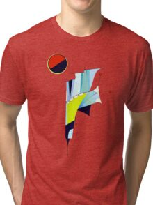 Outer Space Command Station Tri-blend T-Shirt