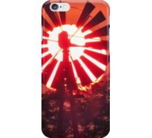 Windmill in the Evening iPhone Case/Skin