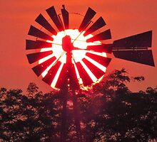 Windmill in the Evening by lorilee