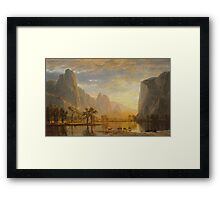 Valley of Yosemite - Albert Bierstadt Framed Print
