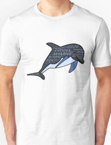 Dolphin Typography Playful Curious Sensitive Insti T-Shirt