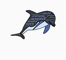 Dolphin Typography Playful Curious Sensitive Insti Unisex T-Shirt