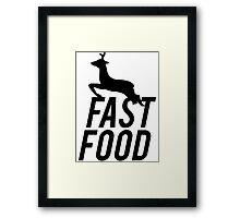 Fast Food Deer Hunter Venison Framed Print