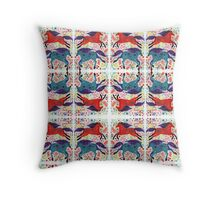 A Horse of Red and Blue Throw Pillow