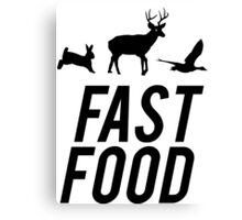 Fast Food Deer Hunter Venison Canvas Print