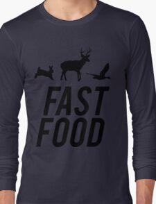Fast Food Deer Hunter Venison Long Sleeve T-Shirt