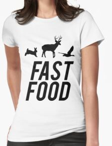 Fast Food Deer Hunter Venison Womens Fitted T-Shirt