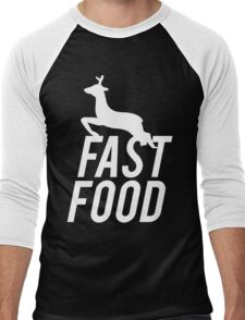 Fast Food Deer Hunter Venison Men's Baseball ¾ T-Shirt