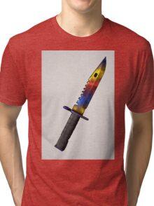 CSGO Bayonet Marble Fade Watercolor Tri-blend T-Shirt