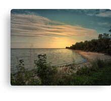 End of Day at the Beach Canvas Print