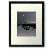Kearney Winter Path in snowstorm Framed Print