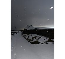 Kearney Winter Path in snowstorm Photographic Print