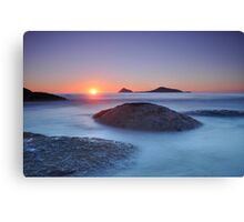 Last light over Norman Island II Canvas Print