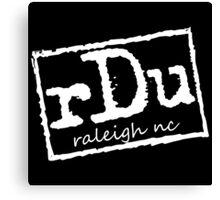 RDU (Raleigh) White Canvas Print
