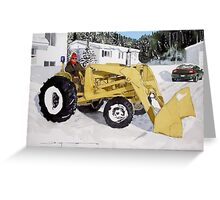 Clearing the Drive Greeting Card