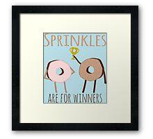Donut Sprinkles For Winners Framed Print