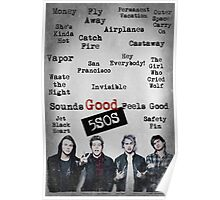 5SOS SOUNDS GOOD FEELS GOOD (SONG TITLES DESIGN) Poster