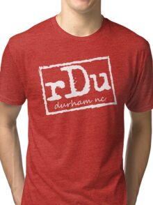 RDU (Durham) White Tri-blend T-Shirt