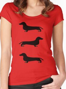 Dog - Dachshund Women's Fitted Scoop T-Shirt