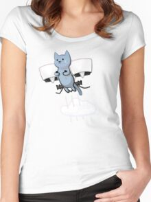 Meowtin Jetpack Women's Fitted Scoop T-Shirt
