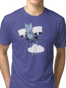Meowtin Jetpack Tri-blend T-Shirt