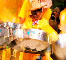 Music  - Young boy playing steeldrums by Carole Anne Ferris