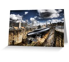Ocelot Submarine Historic Dockyard Chatham Kent Greeting Card