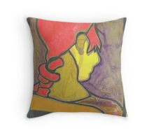 96-Girl with red hair Throw Pillow