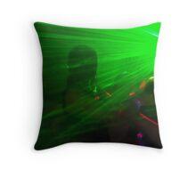 Lazer lights Throw Pillow