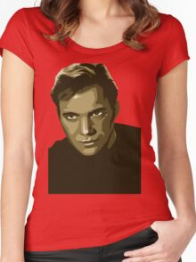 Captain Kirk with transparent background (Star Trek) Women's Fitted Scoop T-Shirt