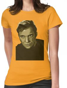 Captain Kirk with transparent background (Star Trek) Womens Fitted T-Shirt